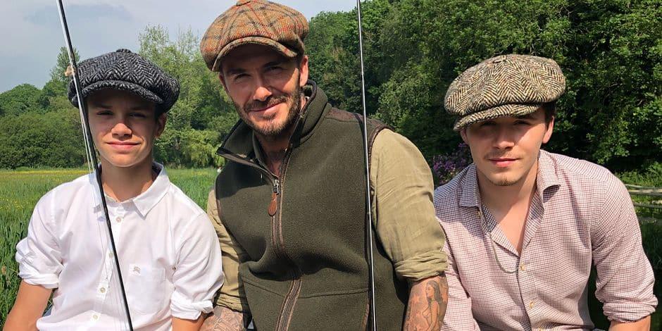 """La partie de pêche stylée et """"so british"""" des Beckham"""