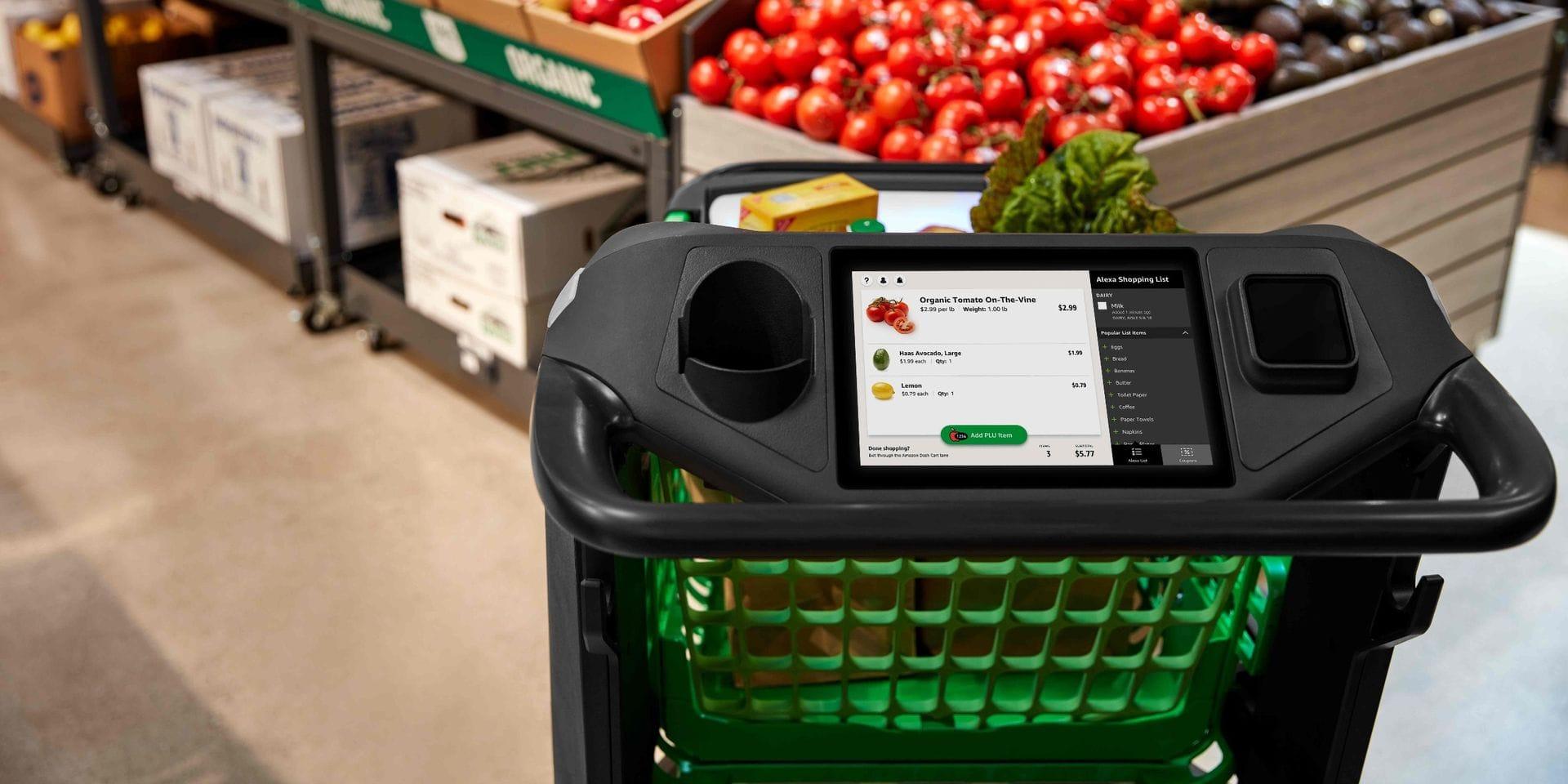 Plus besoin de passer à la caisse: voici le caddie du futur imaginé par Amazon