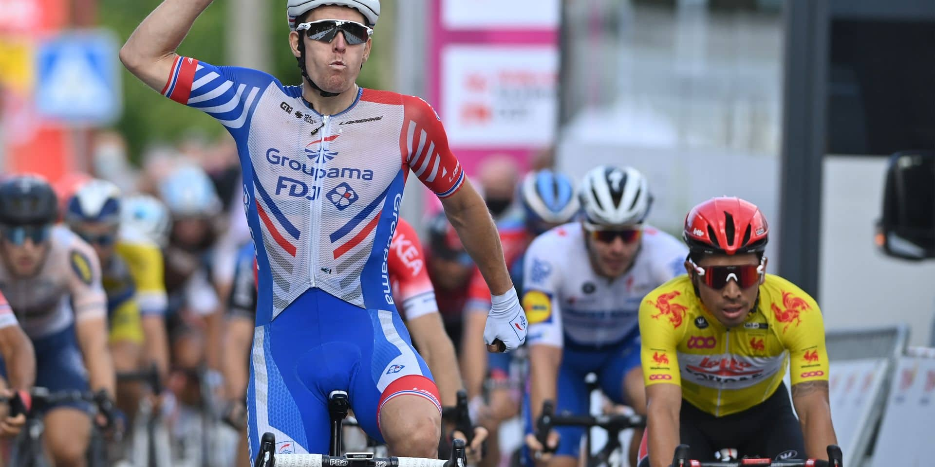 """La revanche de Démare: """"C'était l'objectif de ramener une victoire du Tour de Wallonie"""""""