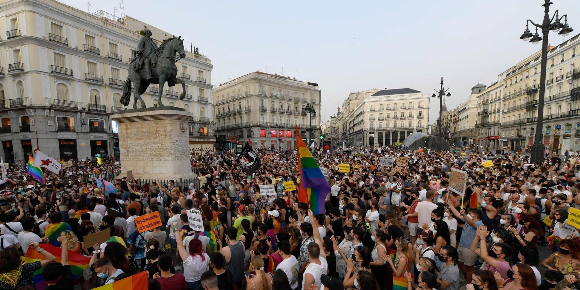 Nouvelles manifestations en Espagne après le meurtre d'un homosexuel, battu à mort