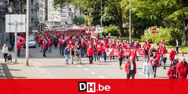 LIEGE. MANIFESTATION DE LA FGTB. Photo Michel Tonneau