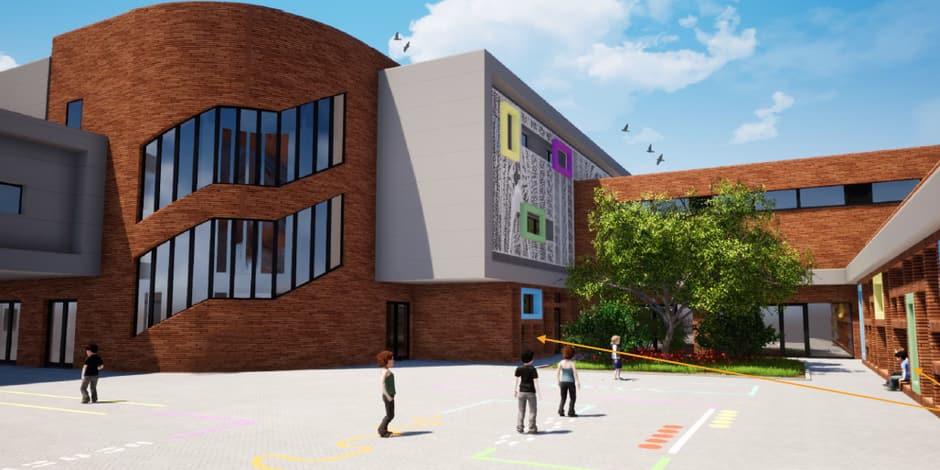 Construction d'une nouvelle école à Hornu : tous les feux sont au vert !