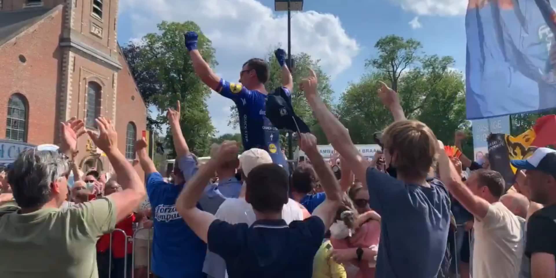 Les images de fête incroyables après le titre de champion de Belgique de Lampaert (VIDEO)