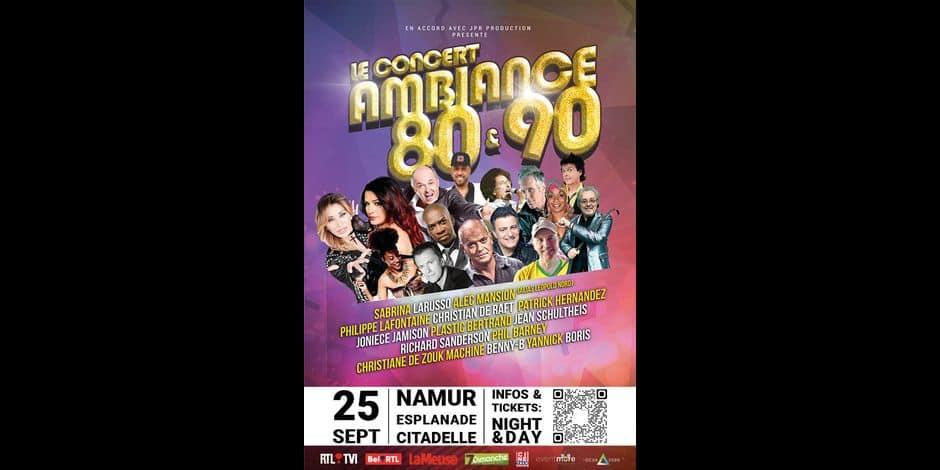 Environ 6.000 personnes ont assisté à un concert d'artistes des années 80 et 90 à Namur