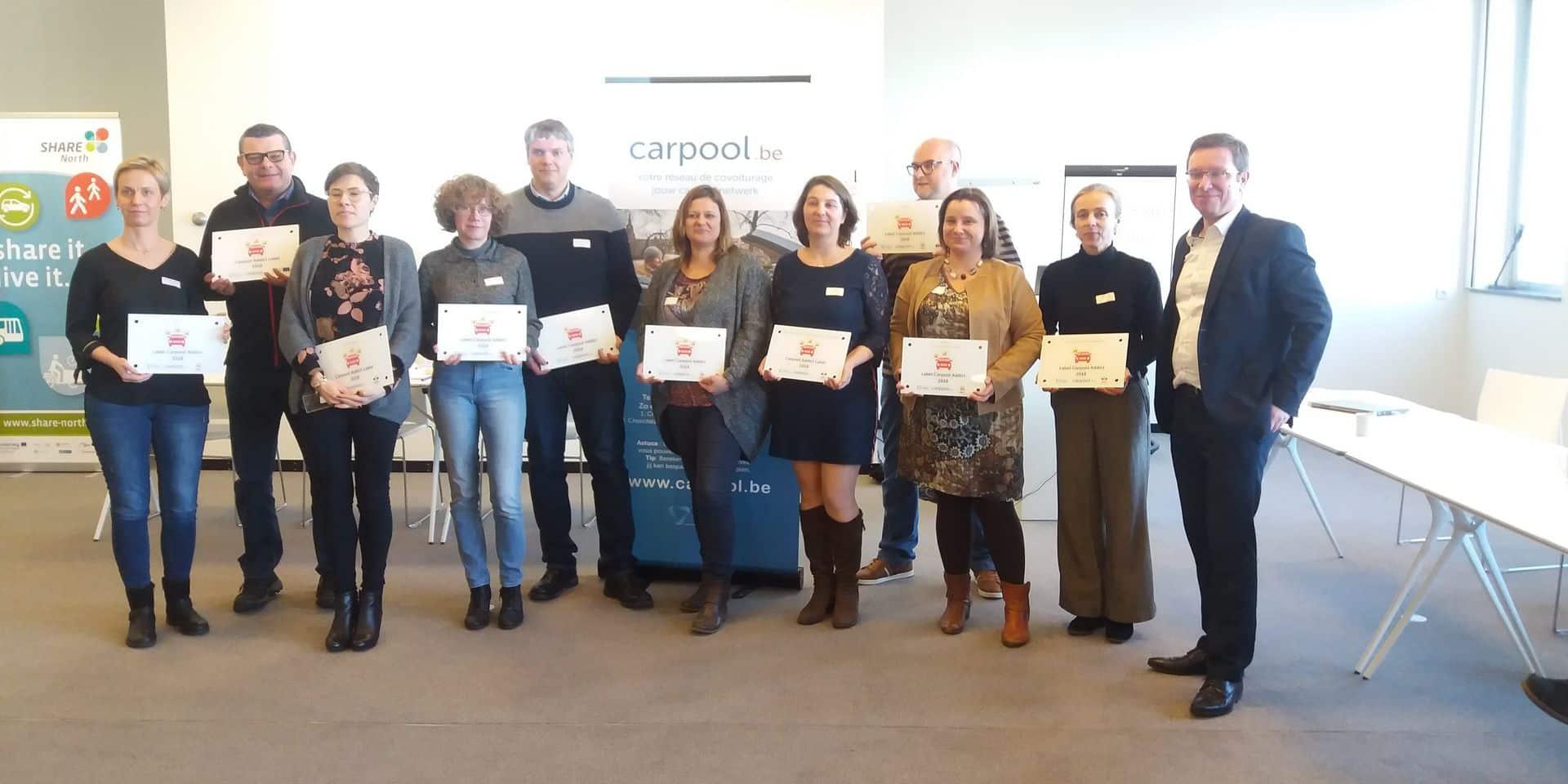 Mobilité : Douze entreprises actives en matière de covoiturage ont été récompensées