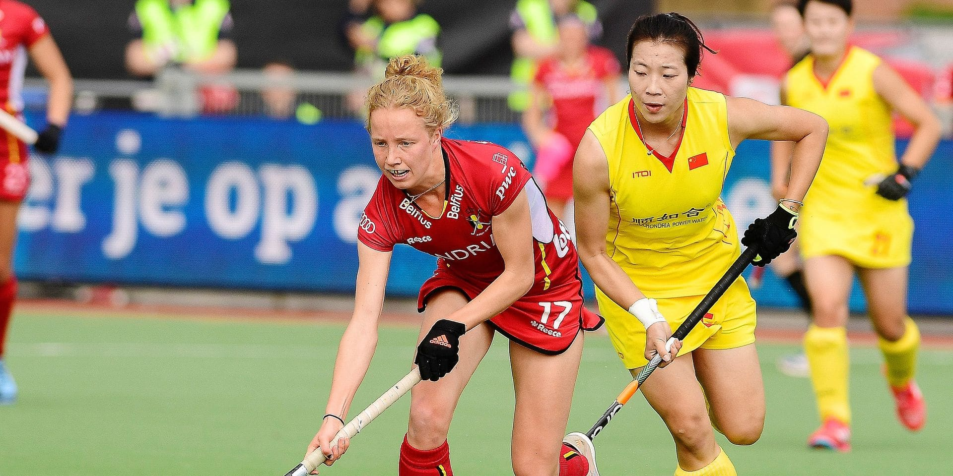 Belgium's Michelle Struijk pictured in action during a hockey game between Belgium national team Red Panthers and China, Sunday 07 April 2019 in Brussels, game 5/16 of the FIH Pro League women's competition. BELGA PHOTO LAURIE DIEFFEMBACQ
