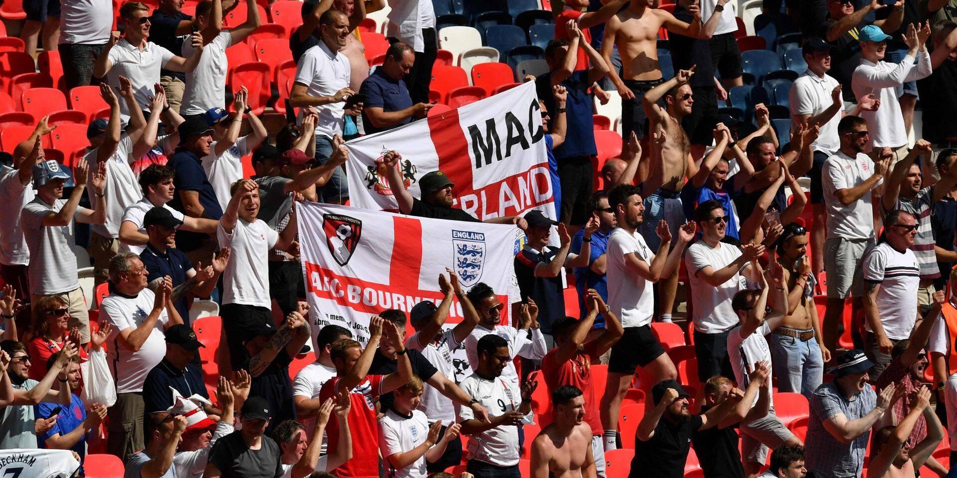 Un supporter anglais gravement blessé après une chute d'une tribune à Wembley lors de l'Euro 2020