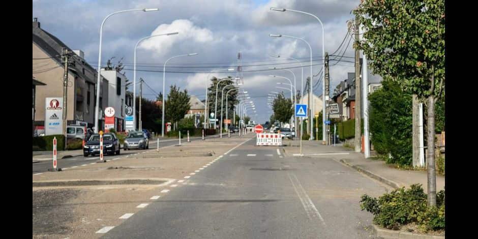 Les travaux de la chaussée de Louvain à Namur vont se poursuivre