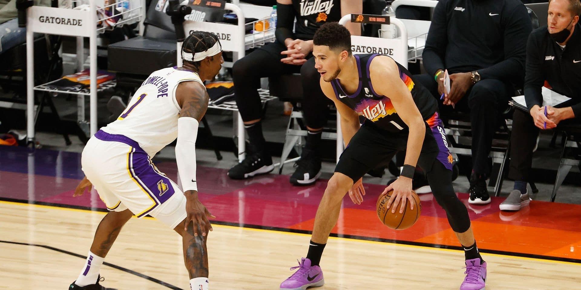 Play-offs NBA: les Suns remportent une première manche à la dure contre les Lakers