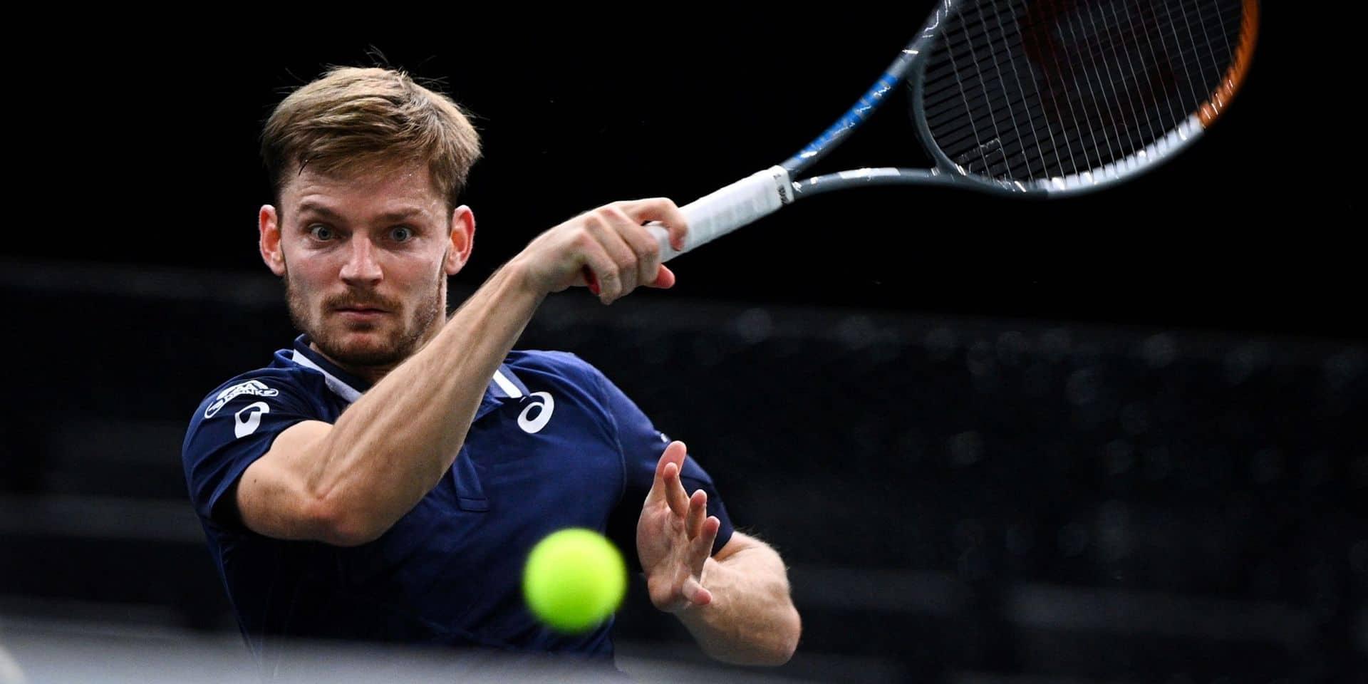 Cinquième défaite de rang pour David Goffin, battu dès le 2e tour à l'ATP Paris