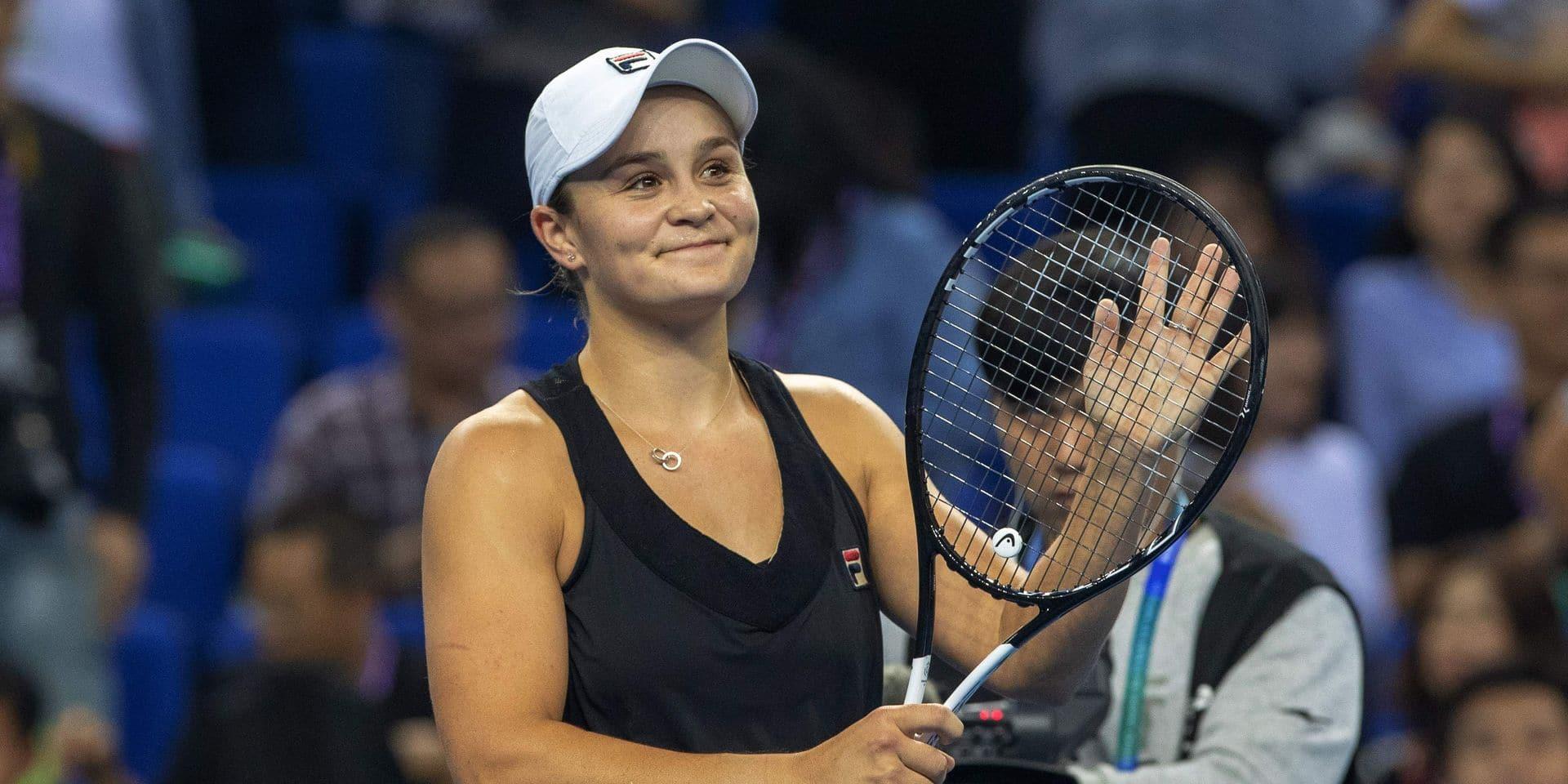 WTA Elite Trophy: Ashleigh Barty bat Wang Qiang en finale