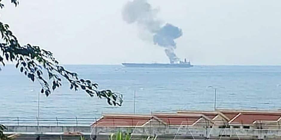 Un pétrolier iranien touché par une attaque près de la Syrie, trois morts
