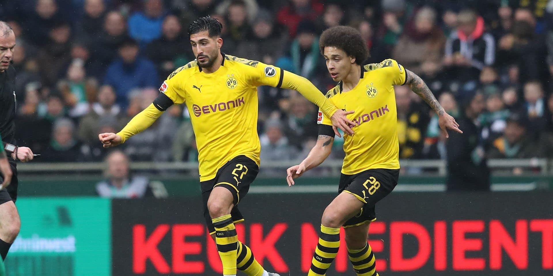 firo: 22.02.2020 Football, 2019/2020 1.Bundesliga: SV Werder Bremen - BVB, Borussia Dortmund