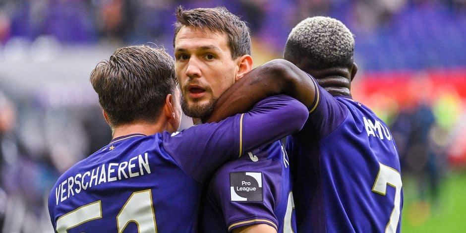 Raman permet à Anderlecht d'arracher un point face à Bruges (1-1)