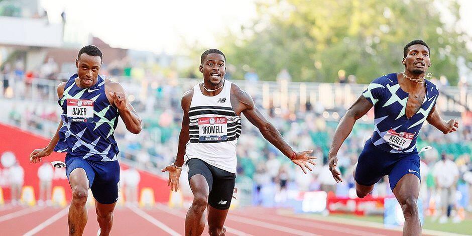 """Pas d'excès de confiance pour Trayvon Bromell, malgré sa victoire au 100 mètres: """"La moitié du travail est fait; ce n'est pas encore fini"""""""