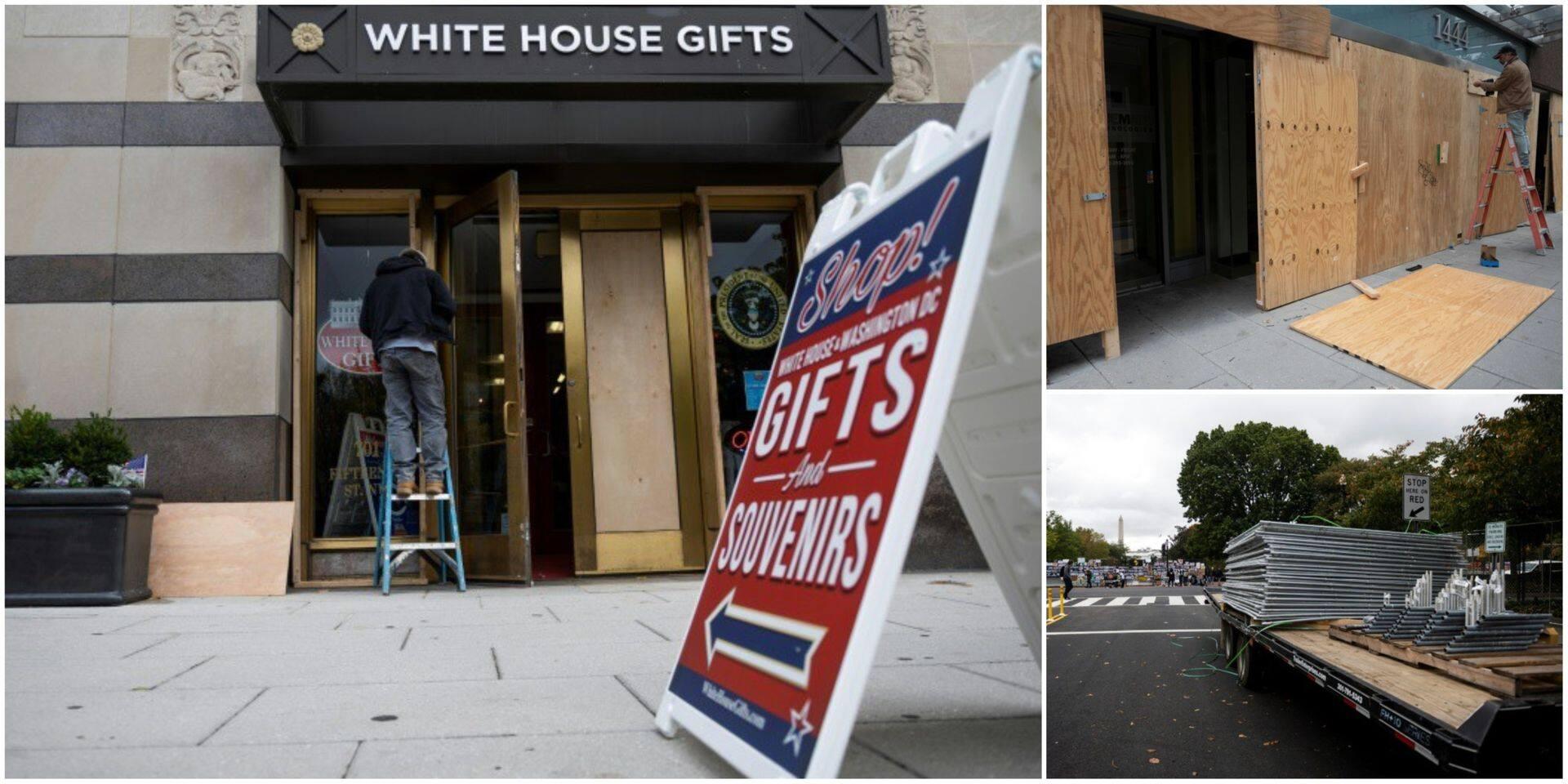 A quelques jours de l'élection, Washington se barricade par crainte de violences