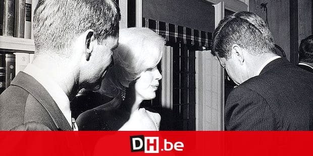 epa02191193 A black and white photo showing a rare image of Marilyn Monroe with President John F. Kennedy (R) and his brother Robert F. Kennedy together after JFK's 19 May 1962 birthday party. Monroe still wears the infamously tight-fighting, sheer rhinestone-studded dress she wore when singing earlier at Madison Square Garden in New York, NY, USA. No other known photo exists of the Kennedys with Monroe according to filmmaker Keya Morgan, who now owns the only original prints of it. Morgan said they were photographed together many times, but the Secret Service and the FBI confiscated every single photograph. Stoughton made and signed 10 prints for Morgan. Nine of them go on sale 8 June 2010 at the Art & Artifact Gallery in West Hollywood, California. EPA/CECIL STOUGHTON NO SALES, NO MAGS, NO ARCHIVES, ONE-TIME USE ONLY.