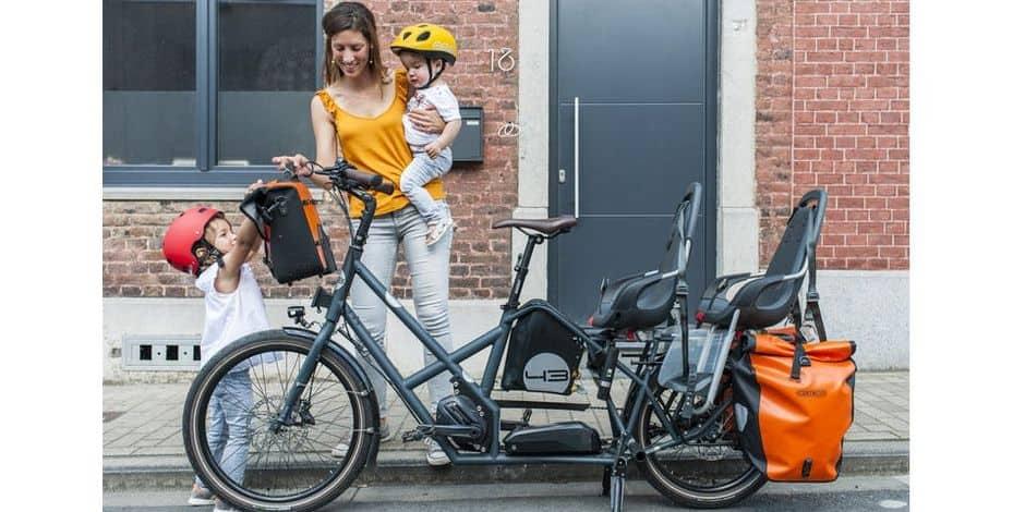 Des vélos XXL à Ottignies-LLN pour faciliter l'organisation familiale