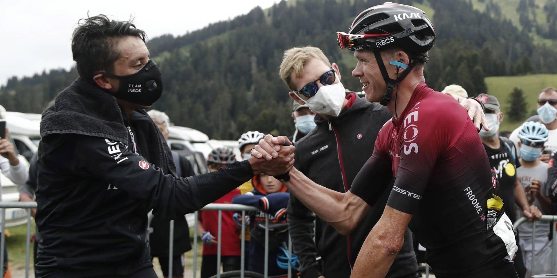 """Froome admet qu'il est """"plus réaliste"""" de cibler la Vuelta, Bernal prêt à l'aider en Espagne"""