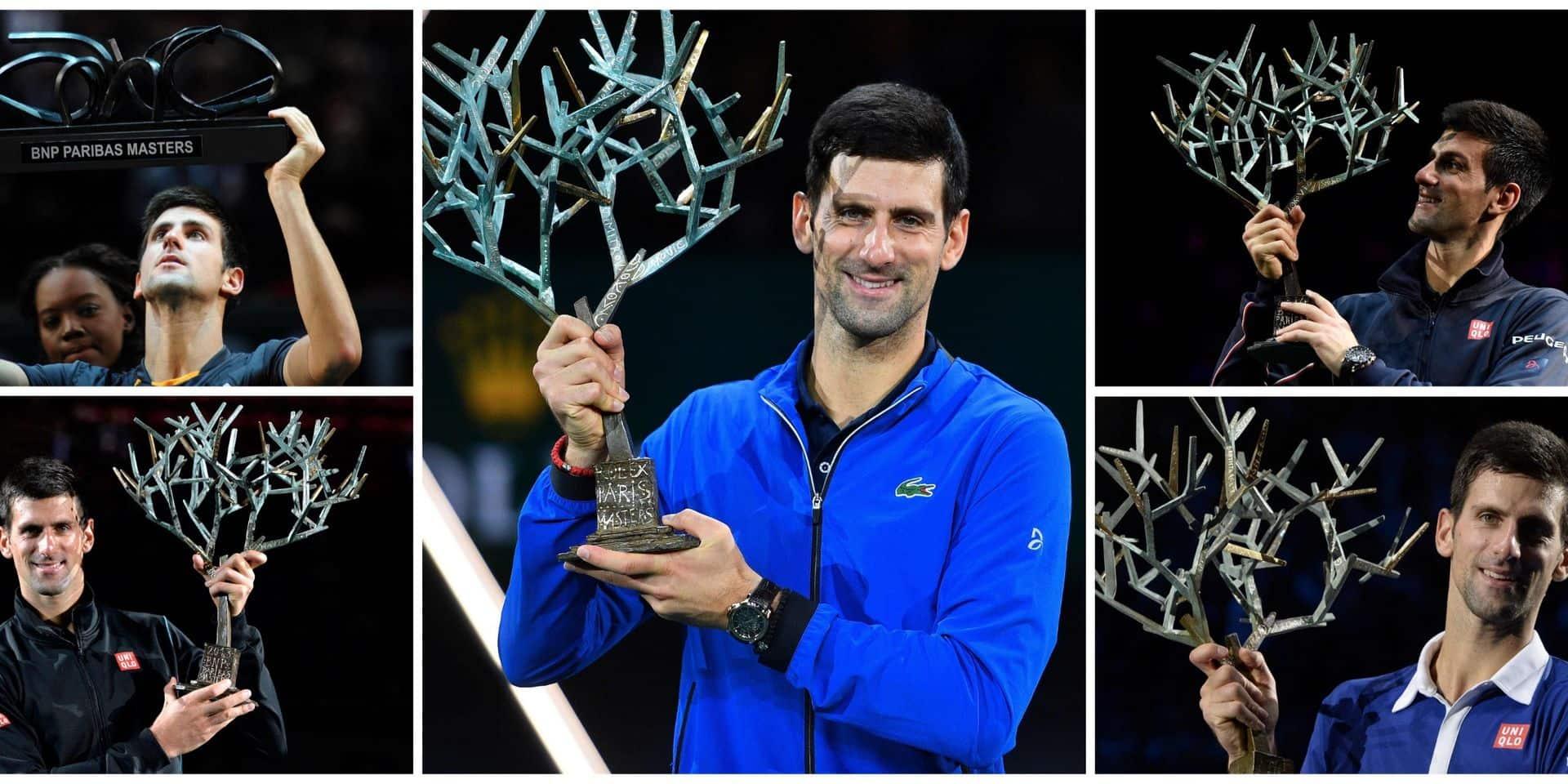 Novak Djokovic remporte le Masters 1000 de Paris pour la 5e fois