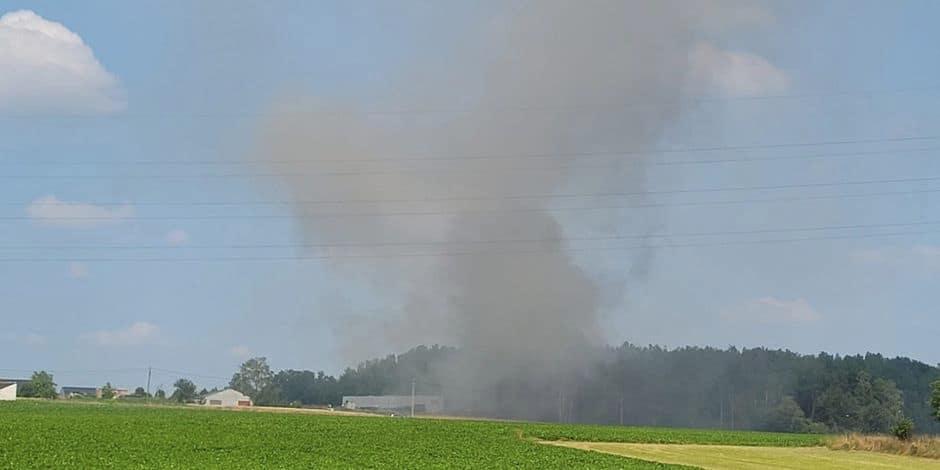 Incendie en cours dans une entreprise à Chapelle-lez-Herlaimont : Un important dispositif des services de secours est mis en place