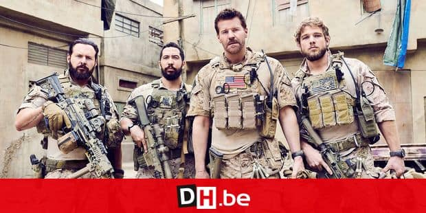 CBS series SEAL TEAM, scheduled to air on the CBS Television Network. Pictured left to right: AJ Buckley, Neil Brown Jr., David Boreanaz and Max Thieriot. Photo: Eric Ray Davidson/CBS �©2017 CBS Broadcasting, Inc. All Rights Reserved