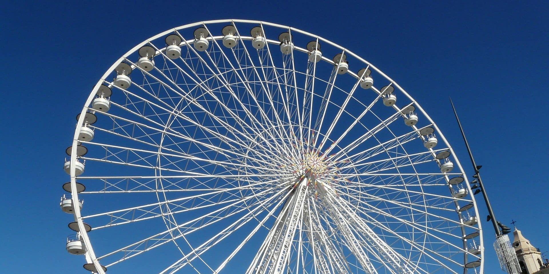 Une grande roue aux Lacs de l'Eau d'Heure pour le 8 mai