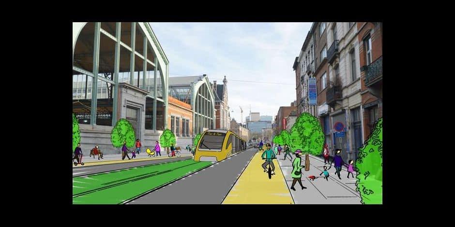 Le tram qui passera par Tour & Taxis ira jusqu'à la Gare Centrale