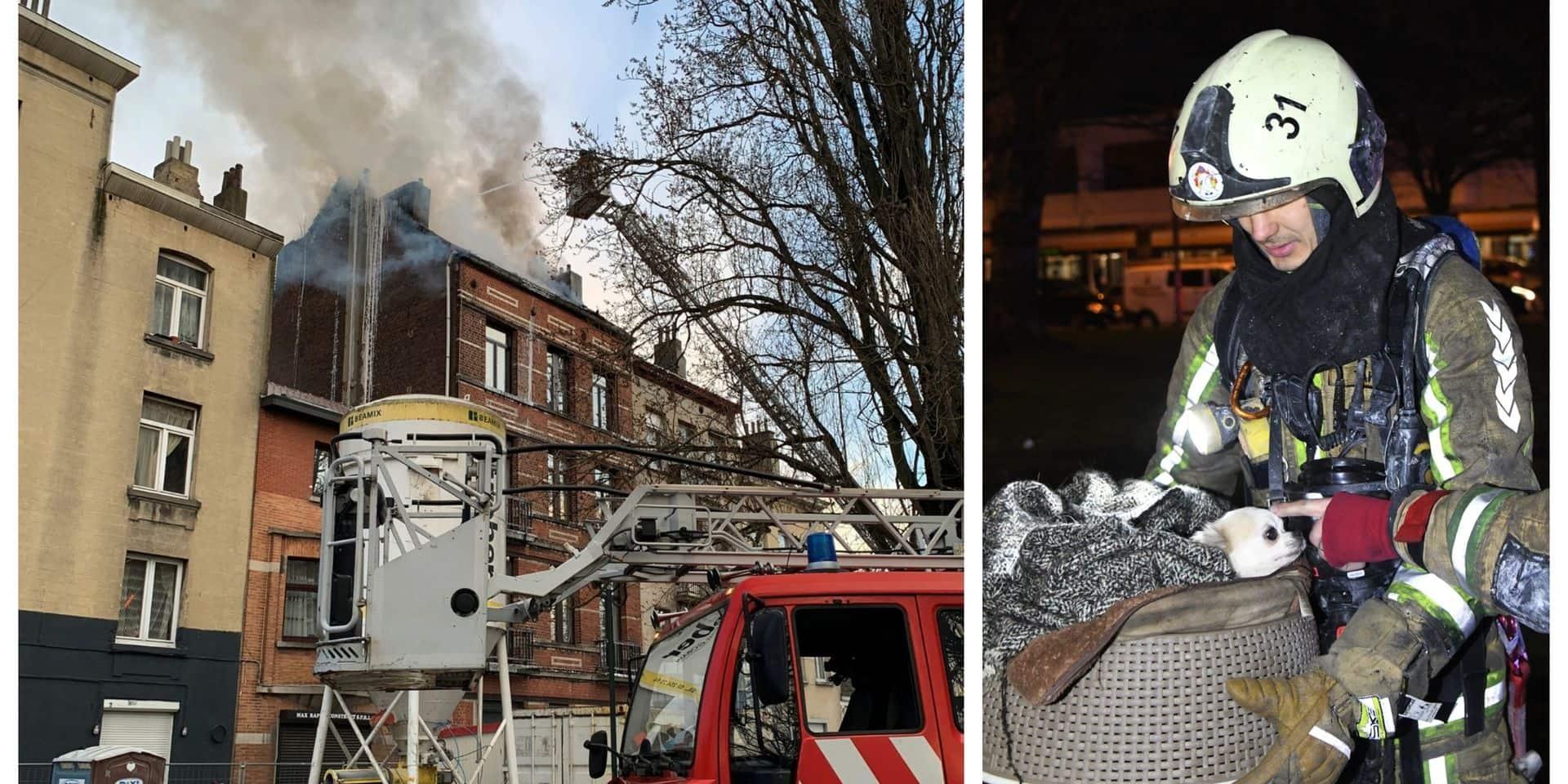 Incendie de toiture maîtrisé à Anderlecht