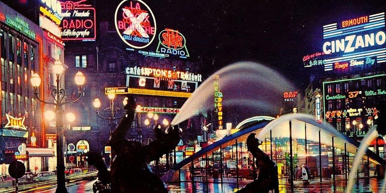 Quand Bruxelles était éclairée par les publicités lumineuses