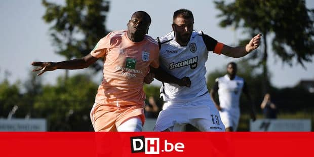 MIERLO, BELGIUM - JUNE 29, 2018 : Landry Dimata forward of RSC Anderlecht pictured during a friendly game between RSC Anderlecht and Park Saloniki in Swolgen where RSCA is on summer stage prior as preparation of the new Jupiler pro league season on june 29, 2018 in Mierlo, The Netherlands , 29/06/2018 ( Photo by Philippe Crochet / Photonews *** !!