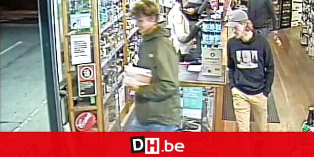 "This screen grab from handout CCTV video taken on May 31, 2019 and released to AFP by the New South Wales Police on June 17 shows missing Belgian tourist Theo Hayez (R) in a bottle shop in the coastal tourist town of Byron Bay, some 750 kilometres (470 miles) north of Sydney. - On June 17, 2019 the father of the 18-year-old Belgian backpacker made a heart-rending appeal for help finding his son, as Australian police admitted they were ""baffled"" by his disappearance from the picturesque surf town. Hayez was last seen on May 31 at a hotel in Byron Bay. (Photo by Handout / NEW SOUTH WALES POLICE / AFP) / -----EDITORS NOTE --- RESTRICTED TO EDITORIAL USE - MANDATORY CREDIT ""AFP PHOTO / NEW SOUTH WALES POLICE"" - NO MARKETING - NO ADVERTISING CAMPAIGNS - DISTRIBUTED AS A SERVICE TO CLIENTS"