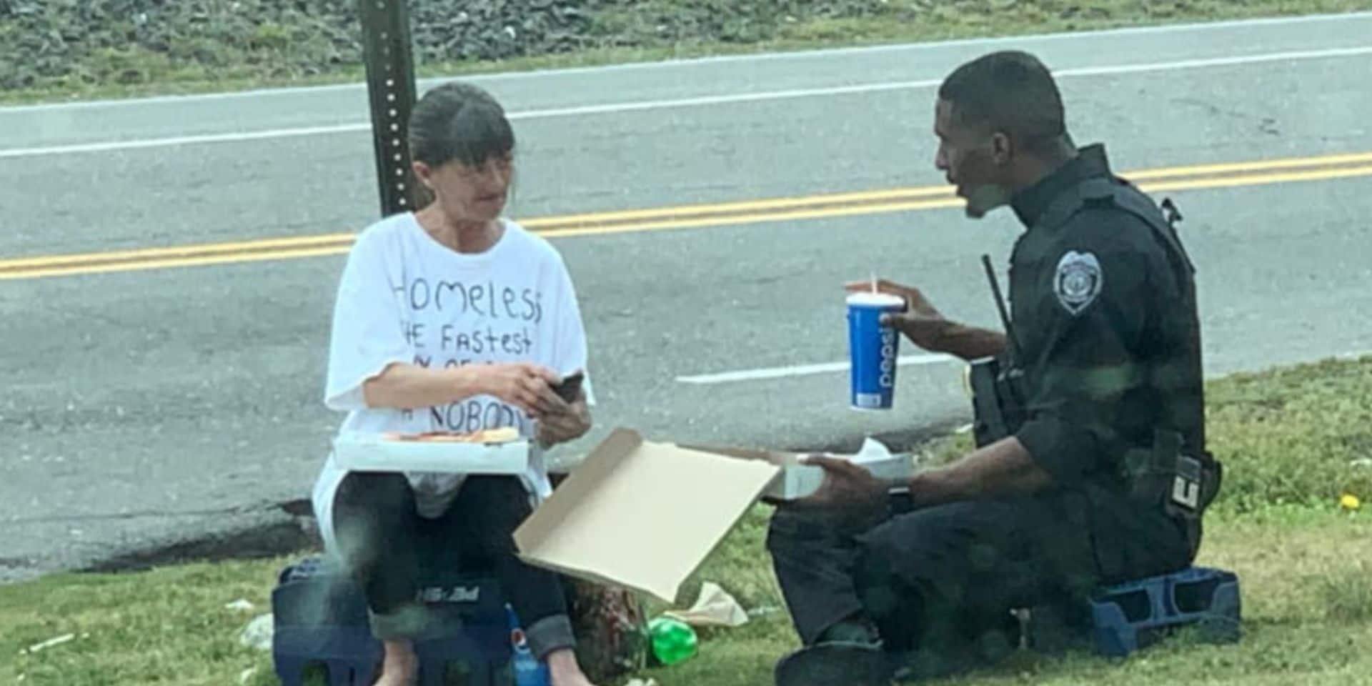 """Ce policier tente d'aider une sans-abri: """"Je détestais qu'elle se sente comme une moins que rien"""""""