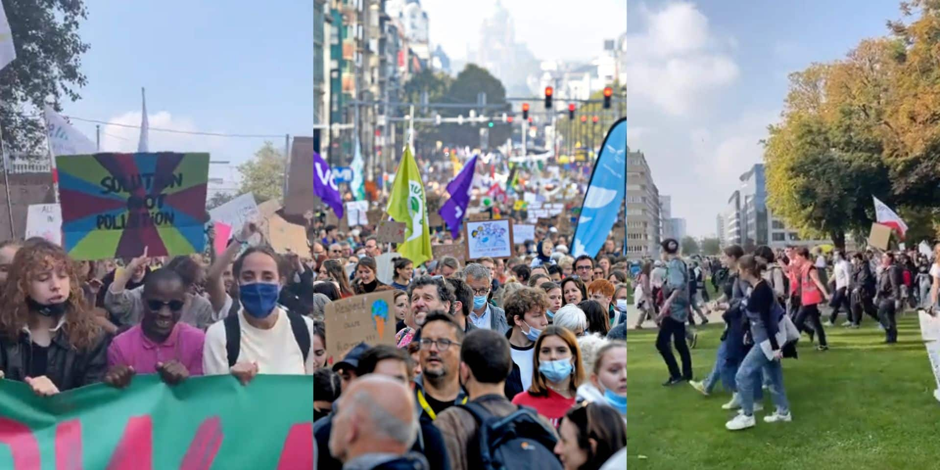 Environ 50.000 personnes ont marché pour le climat à Bruxelles