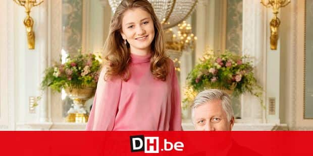 ATTENTION EDITORS - HAND OUT PICTURES - EDITORIAL USE ONLY - NO SALES - NO ADVERTISING - MANDATORY CREDIT KONINKLIJK PALEIS/PALAIS ROYAL/KONIGLICHER PALAST/ROYAL PALACE Picture of King Philippe - Filip of Belgium and Crown Princess Elisabeth posing for photographer , released by Koninklijk Paleis / Palais Royal / Koniglicher Palast / Royal Palace, on Wednesday 18 July 2018. HANDOUT PHOTO KONINKLIJK PALEIS/PALAIS ROYAL/KONIGLICHER PALAST/ROYAL PALACE