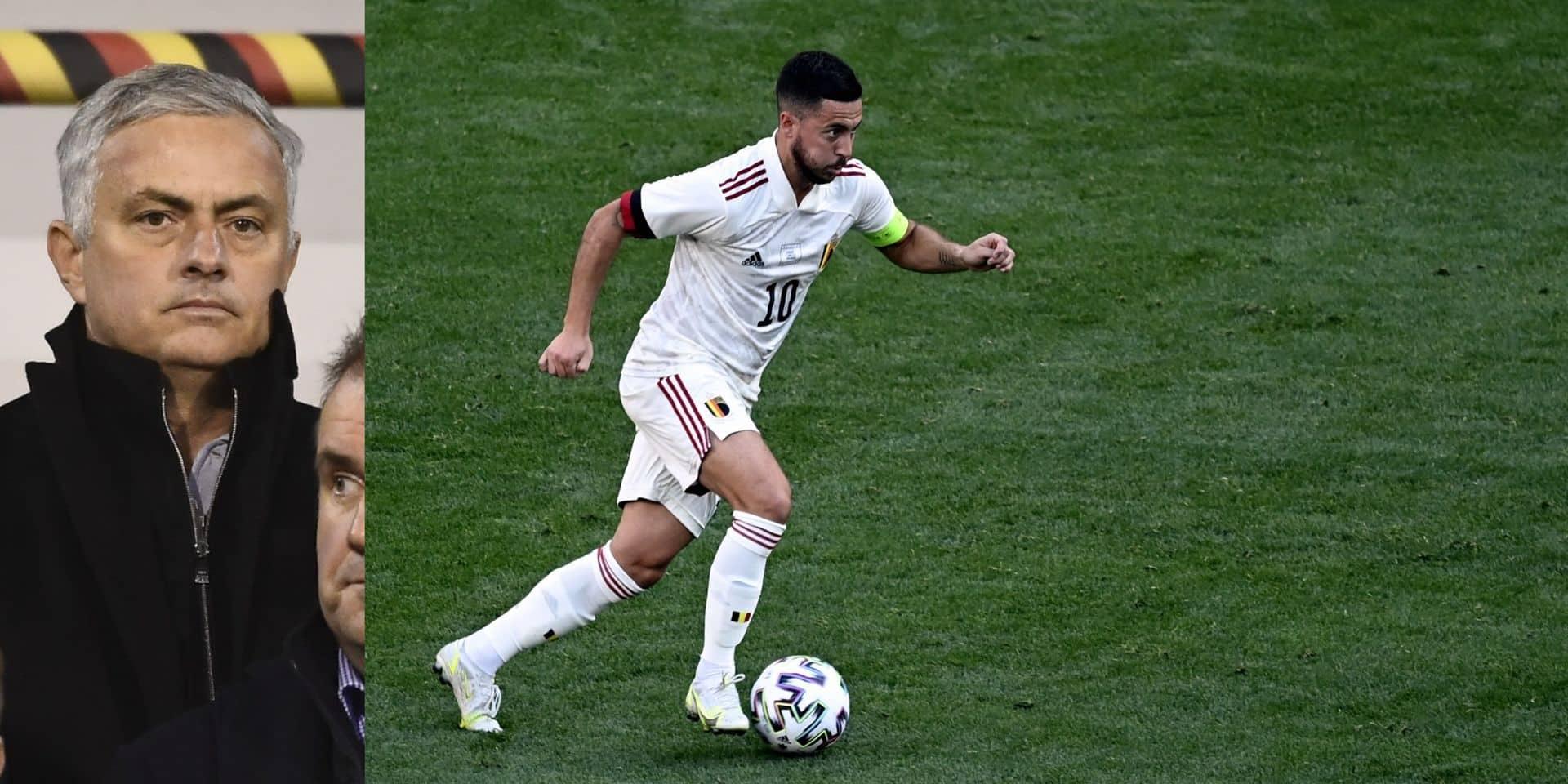 """""""La Belgique va terminer l'Euro avec Eden titulaire et probablement au sommet de son art"""": José Mourinho optimiste pour Hazard"""