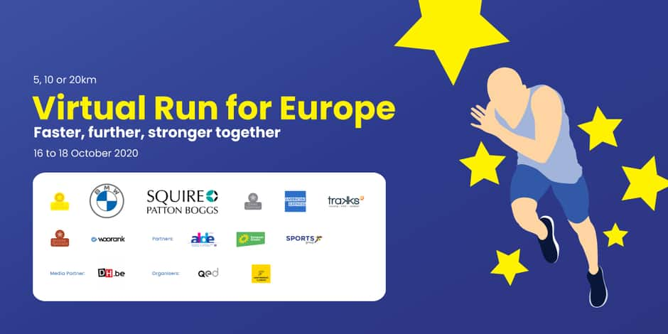 Virtual Run for Europe 2020, une course virtuelle caritative dans toute l'Europe !