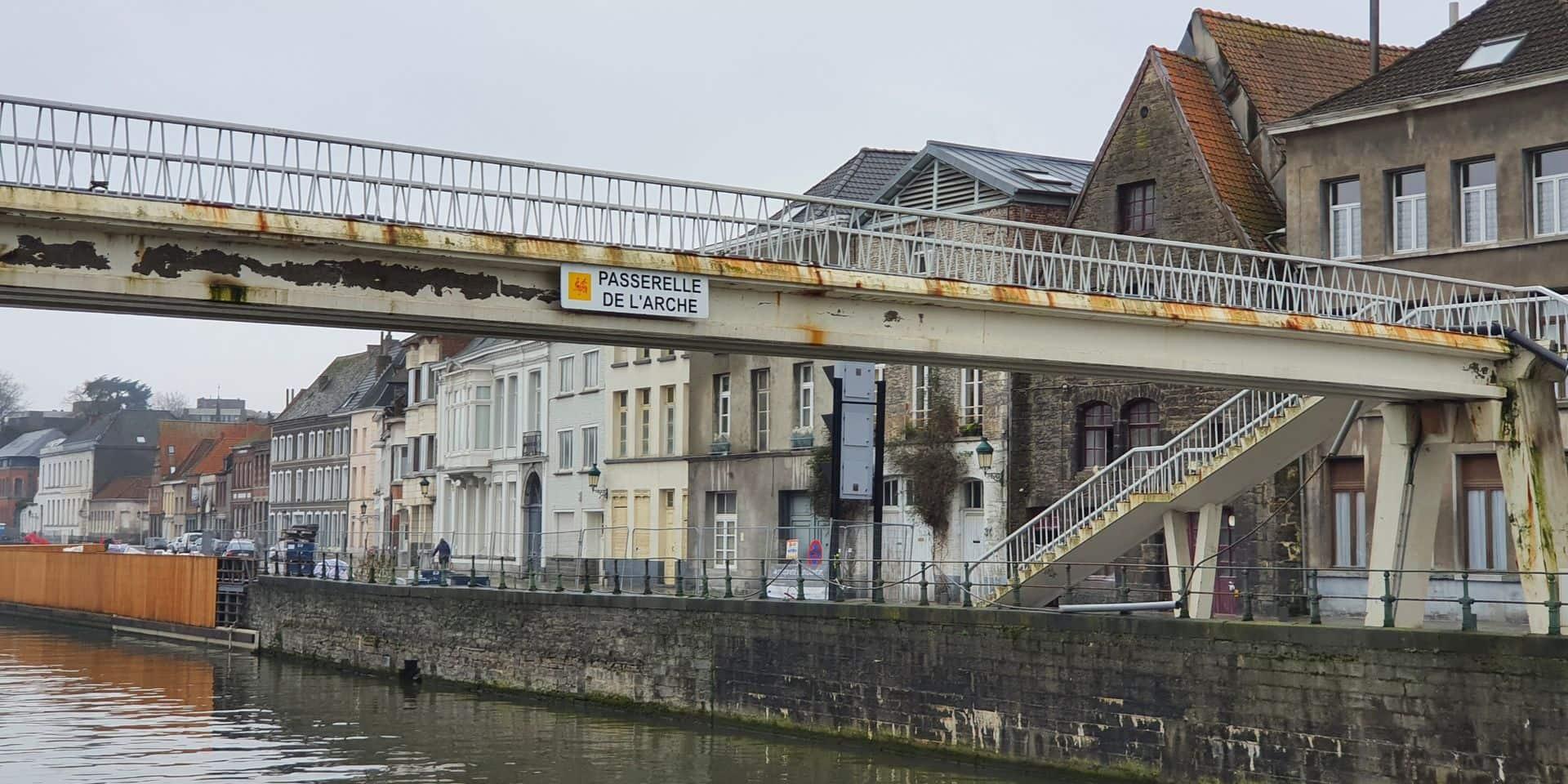 Le projet de la passerelle de l'Arche se concrétise à Tournai
