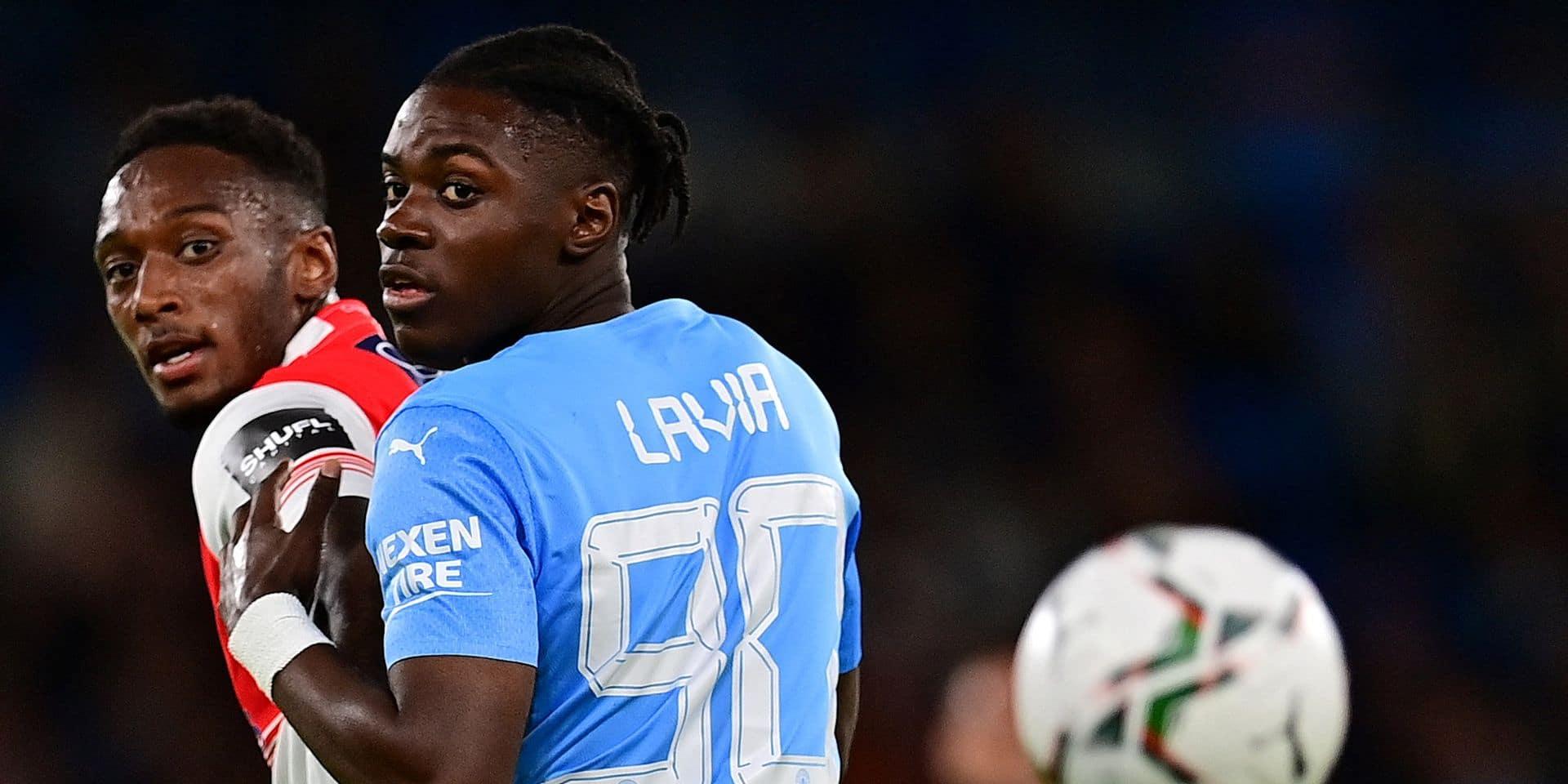 """La pépite belge Roméo Lavia a fait ses grands débuts avec Manchester City: """"J'ai profité de chaque minute"""""""