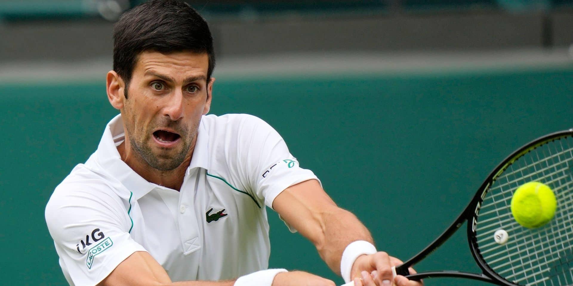 Wimbledon: Djokovic écarte tranquillement Anderson au 2e tour