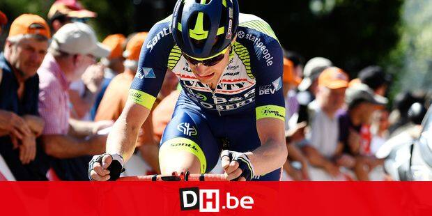Belgian Kevin Van Melsen of Wanty-Groupe Gobert pictured in action during the 82nd edition of the men's race of 'La Fleche Wallonne', a one day cycling race (Waalse Pijl - Walloon Arrow), 198,5km from Seraing to Huy, Wednesday 18 April 2018. BELGA PHOTO YORICK JANSENS