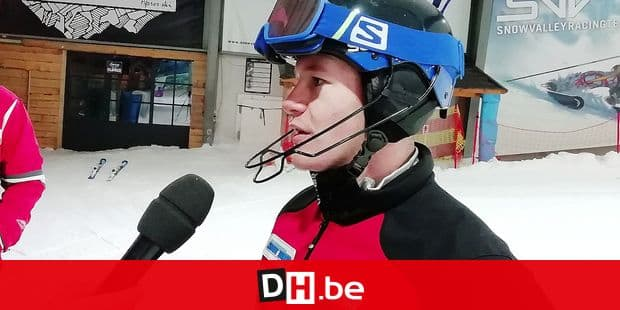 Belgian skier Armand Marchant pictured during a press moment in Peer, Thursday 13 December 2018. BELGA PHOTO ROMUALD KONIECZNY