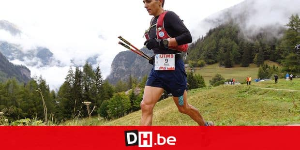 French long-distance runner Xavier Thevenard competes during the 170 km Mount Blanc Ultra Trail (UTMB) race around the Mont-Blanc crossing France, Italy and Swiss, on September 1, 2018 in Col de la Forclaz near Trient. - The 16 th Ultra-Trail du Mont-Blanc (UTMB) is a mountain ultramarathon with numerous passages in high altitude (>2500m) and in difficult weather conditions (night, wind, cold, rain or snow). It takes place once a year in the Alps, across France, Italy and Switzerland. (Photo by JEAN-PIERRE CLATOT / AFP)