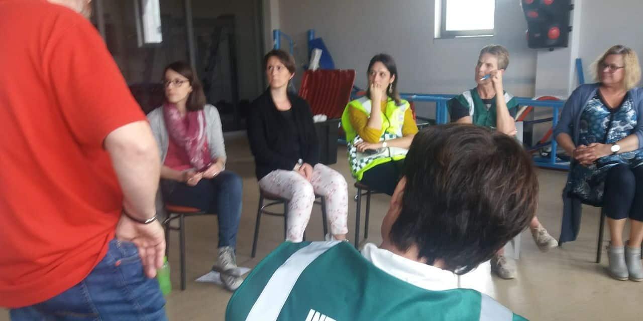 Andenne : les équipes dédiées à la prise en charge psychosociale se forment et se mettent en situation