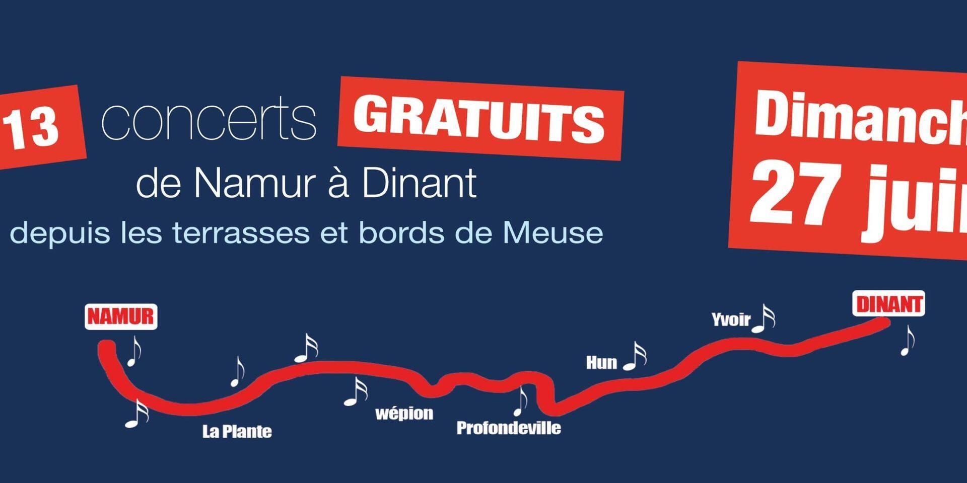 Un concert itinérant dimanche sur la Meuse de Namur à Dinant