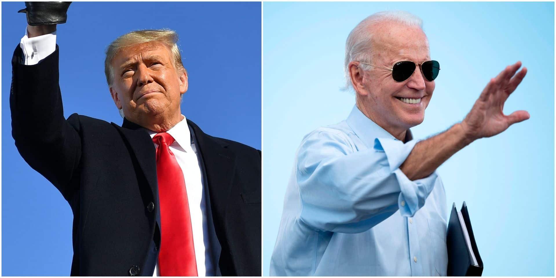 À trois jours de la présidentielle, la pression monte: Trump et Biden ne veulent rien lâcher
