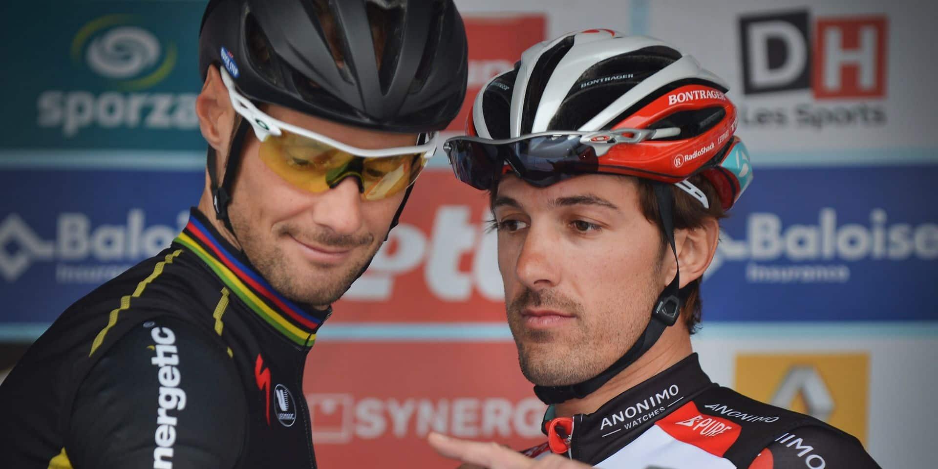 """Fabian Cancellara ne voit pas Tom Boonen revenir dans le peloton: """"Il a beaucoup plus à perdre"""""""