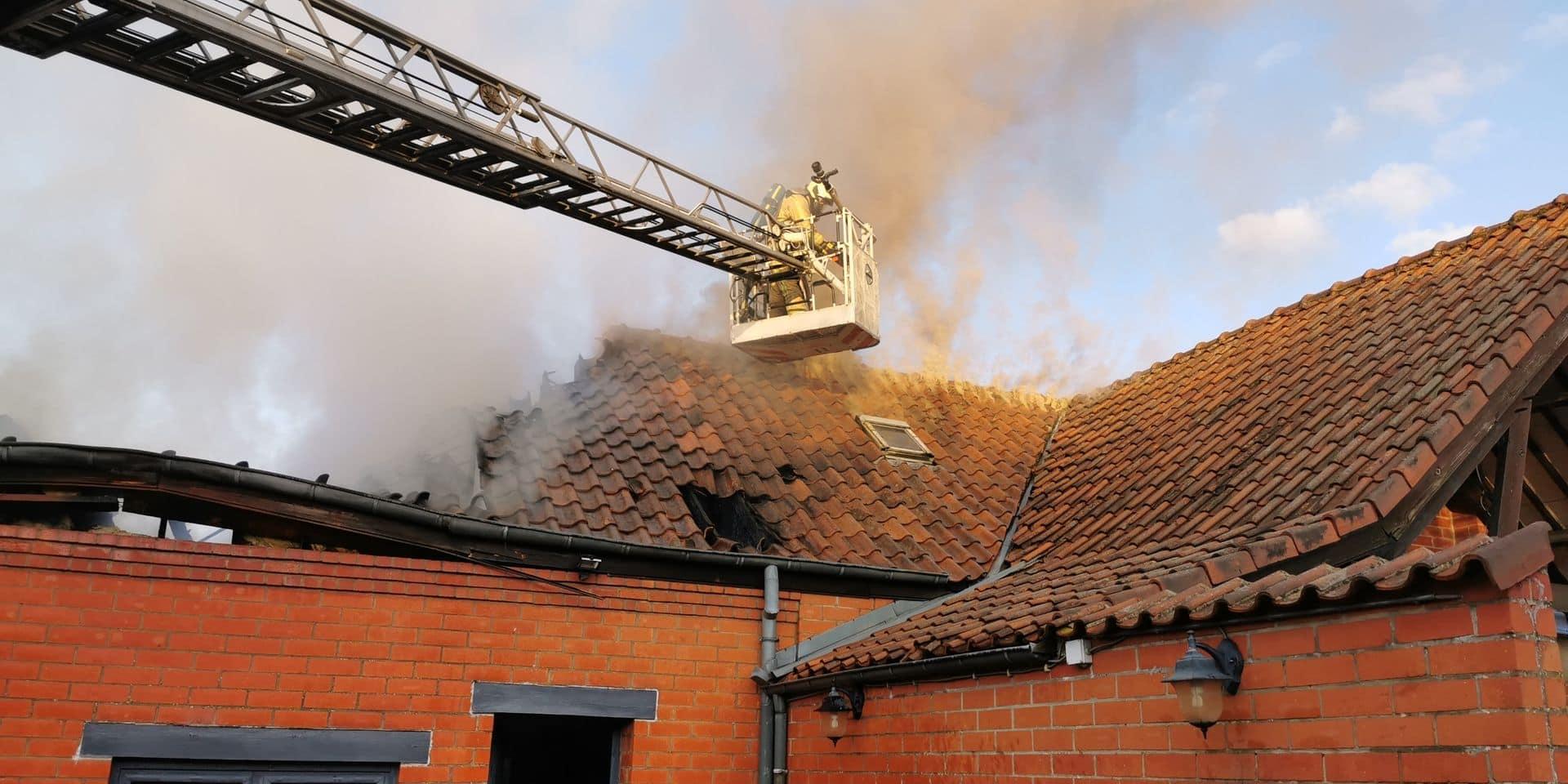 Biercée: une maison détruite par les flammes