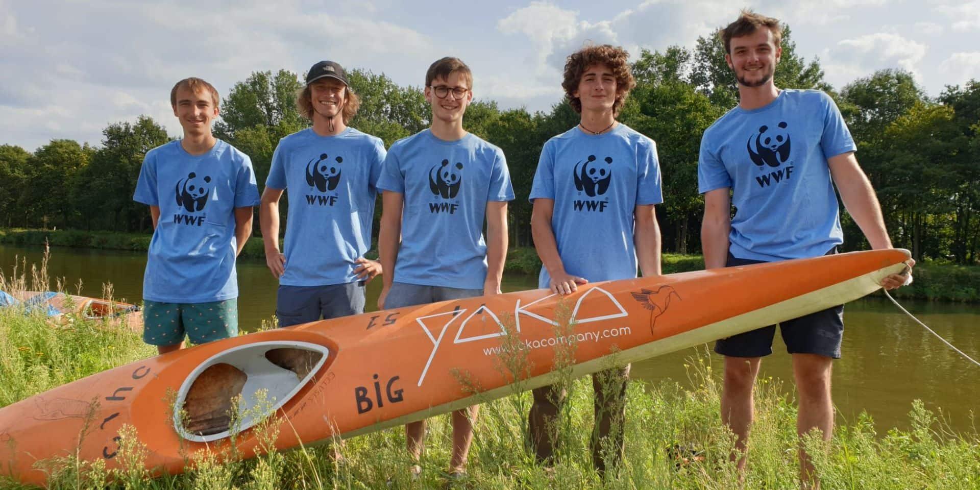 180 000 coups de pagaie et 2 000 € pour WWF grâce à leur épopée en kayak