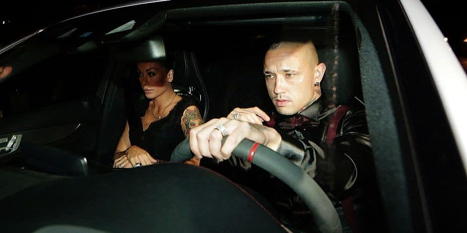 Francesco Totti birthday party - Rome. Radja Nainggolan arriving at the 40th birthday party for Francesco Totti, Rome, Italy. URN:28779368 + PHOTO NEWS / PICTURES NOT INCLUDED IN THE CONTRACTS